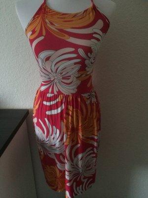 buntes Sommerkleid / Kleid /Neckholderkleid von Flame - Gr. XS