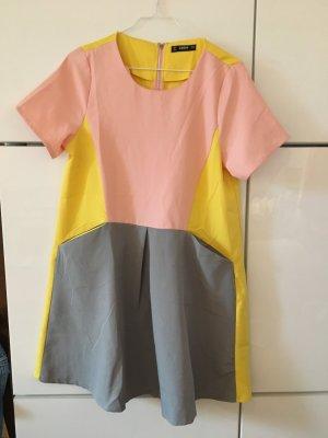 Buntes Sommerkleid rosa-gelb-grau Gr. S