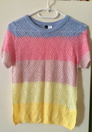 H&M Divided Knitted Top multicolored