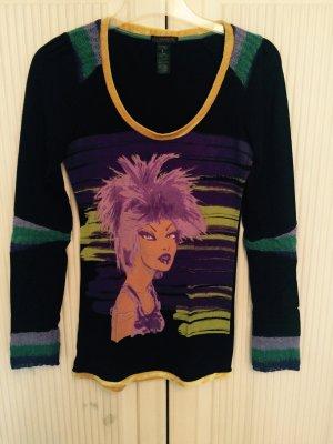 Buntes stylisches Baumwoll Langarmshirt mit Print von Custo
