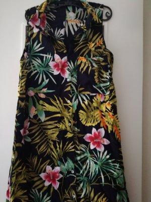 Buntes Tropical Hemdkleid ohne Ärmel