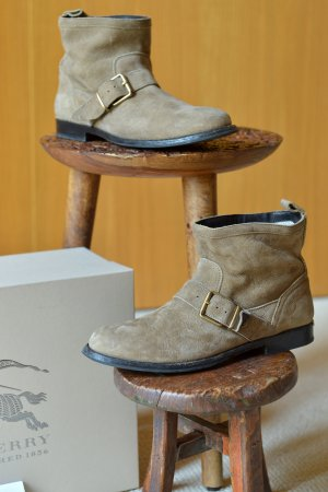 Burberry Boots sand brown-camel leather
