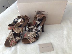 Burberry Platform High-Heeled Sandal multicolored