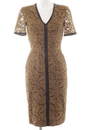 Burberry A-Linien Kleid hellbraun-schwarz klassischer Stil