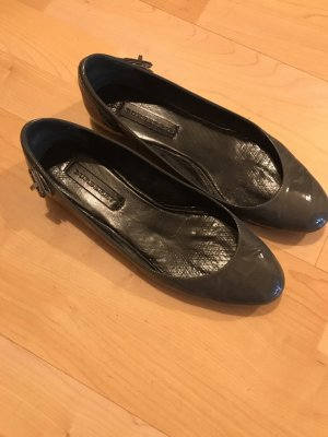 Burberry Patent Leather Ballerinas grey