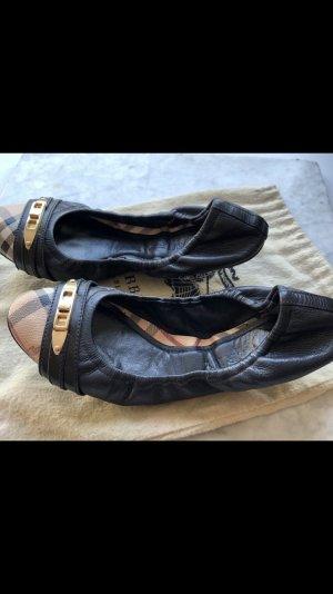 Burberry Opbouwbare ballerina's zwart Leer