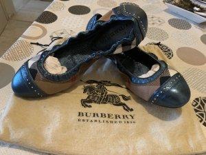 Burberry Bailarinas plegables azul