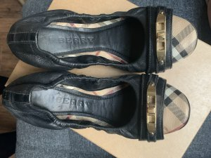 Burberry Foldable Ballet Flats black-gold-colored