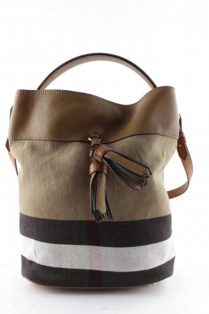 "Burberry Borsellino ""Ashby MD Brit Grainy Canvas Check Medium Saddle Brown"""