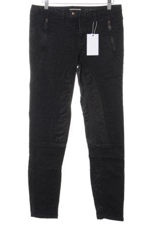 Burberry Jeans de moto noir style décontracté