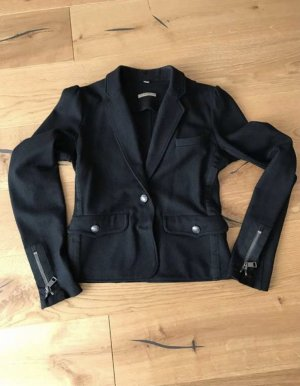 Burberry Blazer de lana negro-taupe Lana