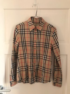 Burberry Bluse 100% Original Burberry London Oberteil Shirt Karo Luxus Luxury Mode Fashion