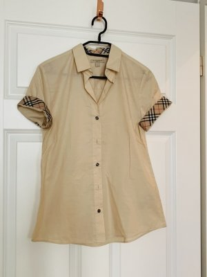 Burberry Short Sleeved Blouse cream-oatmeal