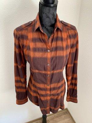 Burberry Brit Long Sleeve Blouse orange-brown