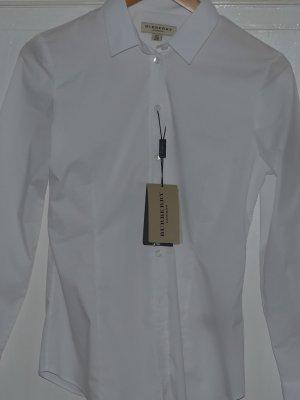 Burberry Bluse Bluse aus Stretchbaumwolle weiß Gr 36 S Neu
