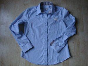 Burberry Long Sleeve Blouse azure cotton