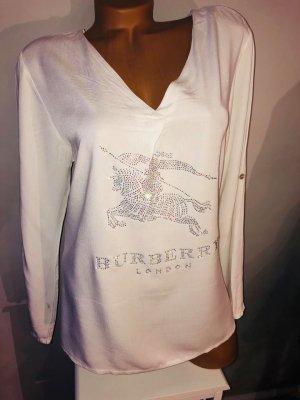 Burberry Bluse in gr 40 Farbe Weiss locker fallend