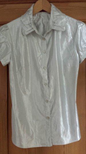 Burberry Bluse silber metallic Gr 36 *wie neu*