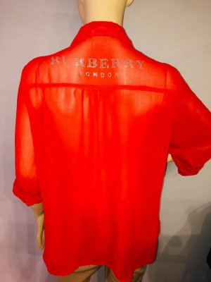 Burberry Lange blouse rood