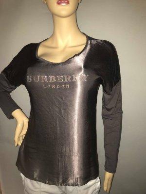 Burberry Bluse Tunika in gr 38 Satin Farbe Bronze