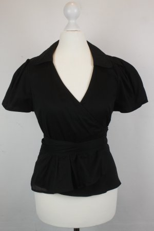 Burberry Bluse Wickelbluse Gr. UK 8 / dt 36 schwarz