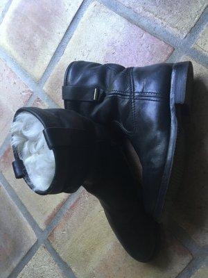 Burberry, Boots, Stiefeletten, Winterstiefel, Lederstiefel, Fellstiefel