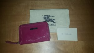 Burberry Portefeuille rouge fluo cuir