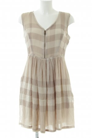 Burberry Brit A Line Dress cream-natural white check pattern casual look