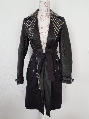 Burberry Brit Callowsby Trench Coat Leder Nieten Mantel