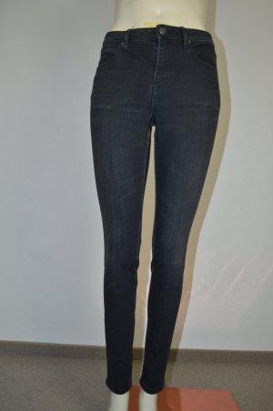 Burberry Brit Hose Jeans Schwarz Gr. W26 High-Rise Skinny XS 34