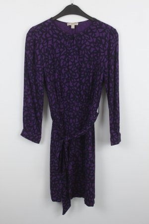 Burberry Brit Kleid Gr. 34 lila schwarz gemustert (18/7/299)