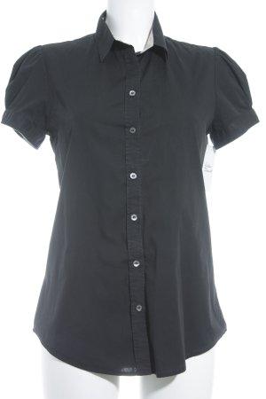 Burberry Brit Kurzarm-Bluse schwarz Casual-Look