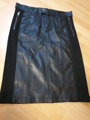 Burberry Brit Leather Skirt black