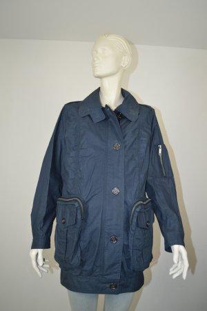 Burberry Brit Mantel Jacke Trenchcoat Gr. 36 blau