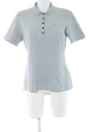 Burberry Brit Polo Shirt light grey flecked casual look