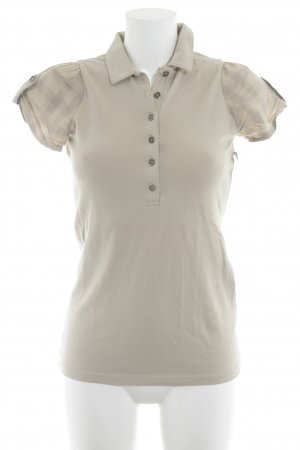 Burberry Brit Polo Shirt beige check pattern casual look