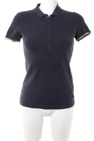 Burberry Brit Polo Shirt dark blue casual look