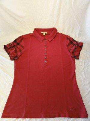 Burberry Brit Poloshirt - mit Check-Ärmeln - Gr. L