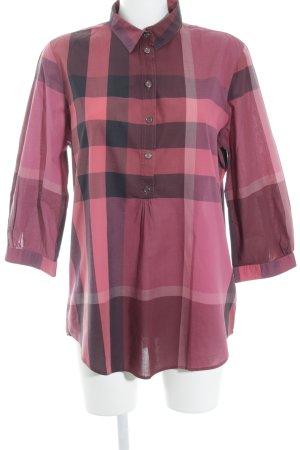 Burberry Brit Slip-over blouse geruite print casual uitstraling