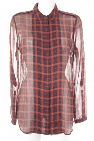 Burberry Brit Seidenbluse rostrot-braunrot Karomuster Casual-Look