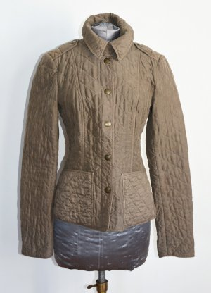 Burberry Brit Quilted Jacket grey brown-olive green
