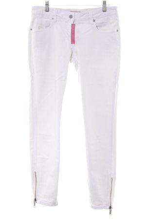 Burberry Brit Jeans a gamba dritta bianco Logo applicato (in metallo)