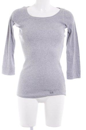 Burberry Brit Sweatshirt hellgrau-grau meliert Casual-Look