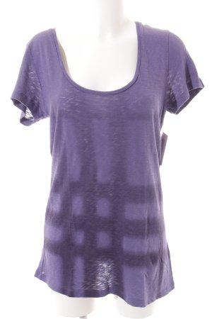 Burberry Brit T-Shirt lila-dunkelviolett Karomuster Casual-Look