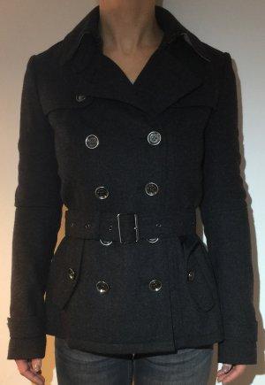 BURBERRY BRIT Trenchcoat Größe 36 Wolle WIE NEU grau