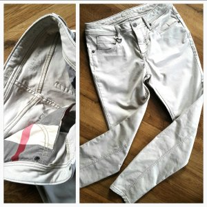 Burberry Brit Westbourn Skinny Ankle Jeans Stretchanteil  Logo 29 W NEU! beige Gr S von * Burberry Brit*