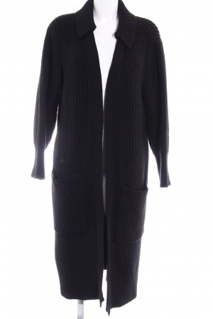 Burberry Brit Wool Jacket black loosely knitted pattern casual look