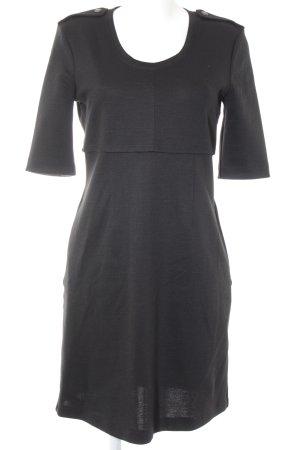 Burberry Brit Vestito di lana nero stile casual