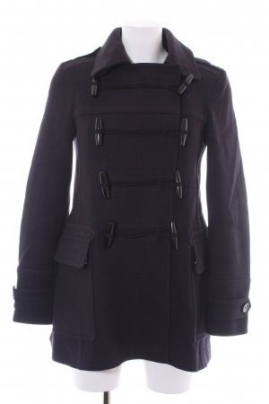 Burberry Brit Cappotto in lana blu scuro-nero stile casual