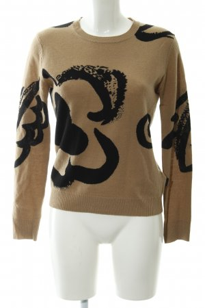 Burberry Brit Wollpullover camel-schwarz Casual-Look
